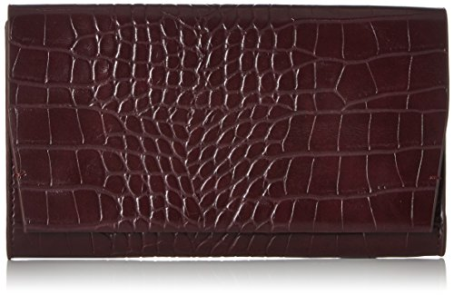 French Connection Damen Contemp Slide Lock Phyllis Clutch, Mehrfarbig (Choc Chilli Croc), 2.5x11x19 cm (Croc Clutch Handtasche)