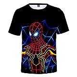 ZZBM Spider-Man Enfant Garçon Fille T-Shirts à Manches Courtes 3D Imprimée...