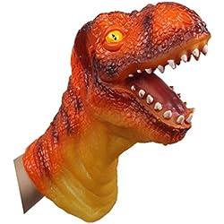 Juguete Marioneta de Mano Figura de Acción Cabeza Forma de Dinosaurio para Niños