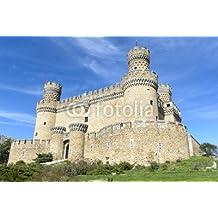 Castillo de Manzanares el real, Madrid, paellera (80952374), lona, 140 x 90 cm