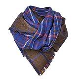 MyBeautyworld24 Damen Winter-Schal Strickschal Deckenschal Doppelschal Herbst-Schal Oversized beidseitig tragbar