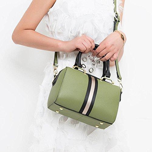 Mena Uk Borsa della spalla in pelle morbida di Trend di stile della signora e della donna Army Green