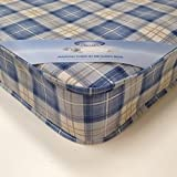 MR SLEEPS BEDS LIMITED Single (90 x 190 cm) 3FT SINGLE BUDGET ECONOMY MATTRESS BLUE HARMONY