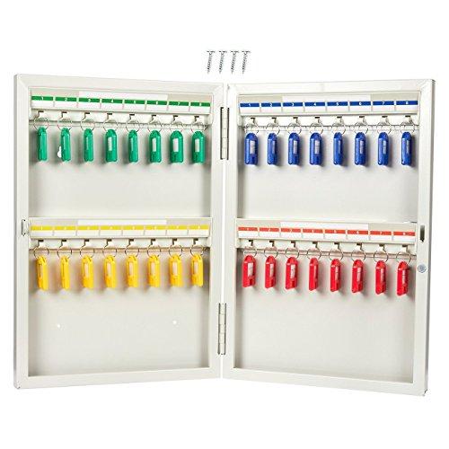 Schlüsselkasten, Edelstahl Schlüssel Storage Locker, Wand montiert Schlüsselhalter Box für 32Schlüssel, inkl. 32Key Tags, 26x 38,1x 5,1cm -