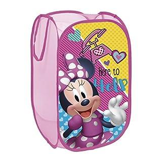 Arditex Minnie Mouse Aufbewahrungskorb, Polyester, Pink, 36x 36x 58cm