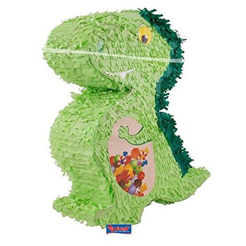 rika: Pinata * DINO *, wird mit Süssigkeiten oder Spielen gefüllt ca.12 x 42 x 56 cm// Piñata Mexiko Dinosaurier Drache Kinder Geburtstag Kindergeburtstag Spiele Spass Geschenke (Dinosaurier-geburtstag)
