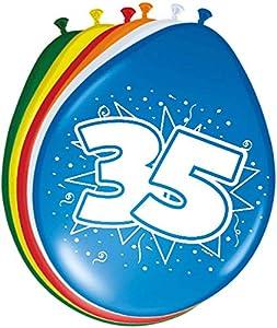 Folat 08223 - Globos de cumpleaños número 35 (30 cm, 8 Unidades)