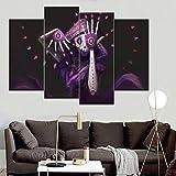 LOVELYJ Stampe su Tela 4 Pezzi Hacker Ragazza Pittura Decorativa Domestica Soggiorno Opere d'Arte A Parete sul Tipo di Stampa su Tela di Alta qualità-Sinmarco