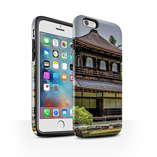 STUFF4 Glanz Harten Stoßfest Hülle / Case für Apple iPhone 6+/Plus 5.5 / Ginkaku-Ji Tempel Muster / Innerer Frieden Kollektion Ginkaku-Ji Tempel