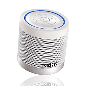 Veho VSS-747-360BT Special Edition M4 Portable Rechargable Wireless Bluetooth Speaker with Track Control for iPhones, Android, iPod, iPad, Tablets and all other Bluetooth devices - White