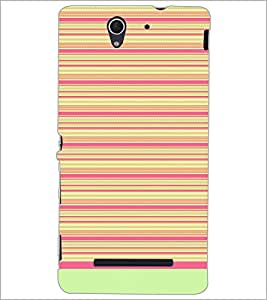 PrintDhaba Tribal pattern D-1757 Back Case Cover for SONY XPERIA C3 (Multi-Coloured)
