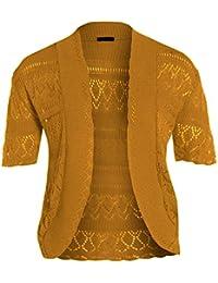 nouveaux Femmes Crochet Knit Cardigans résille Bolero Tops 44-54