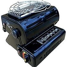 2en 1portátil para Camping Gas estufa cocina Gas butano 1,3kW pesca