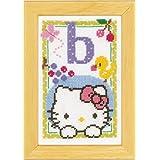 Vervaco - Kit para cuadro de punto de cruz, diseño de Hello Kitty con la letra B, multicolor
