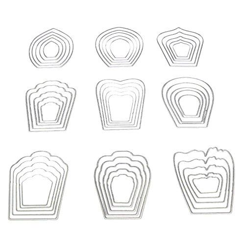 Steellwingsf Blumen Schneiden Sterben DIY Scrapbook Fotoalbum Papier Craft Prägung Werkzeug–Silber (Scrapbook Prägung Silber)