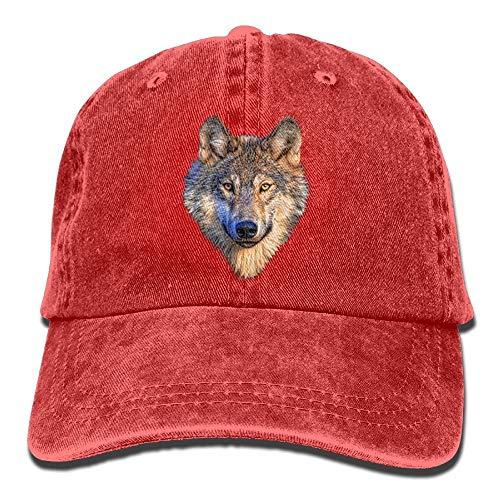 ghkfgkfgk Cool Wolf Head Unisex Cowboy Trucker Cap with Adjustable Baseball Style Hats (Ax-men Hat)