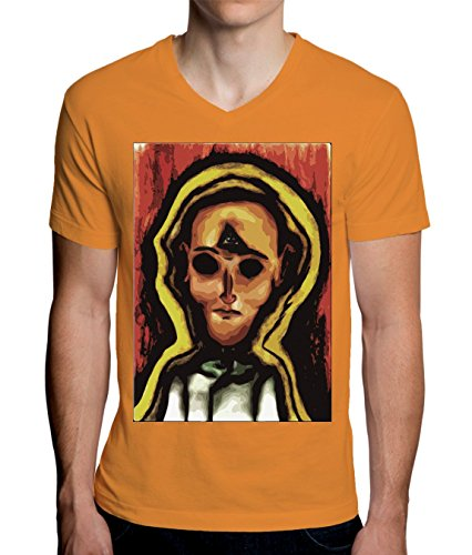 Illuminati Portrait Artwork Men's V-Neck T-Shirt XX-Large