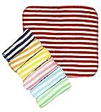 Best Baby Washcloths - Wonderkids Stripes Print Baby Washcloth, Set Of 7 Review