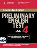 Cambridge Preliminary English Test 4 Self-study Pack: Examination Papers from the University of Cambridge ESOL Examinations (PET Practice Tests)