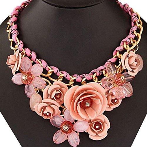 Contever® Elegante di Modo Pendenti monili Bib Chunky Chain Collier