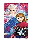 Disney Die Eiskönigin HQ4235-2 Fleece Decke, Polardecke, Kinderbettausstattung, 150 Zentimeter, Mehrfarbig, Elsa, Anna