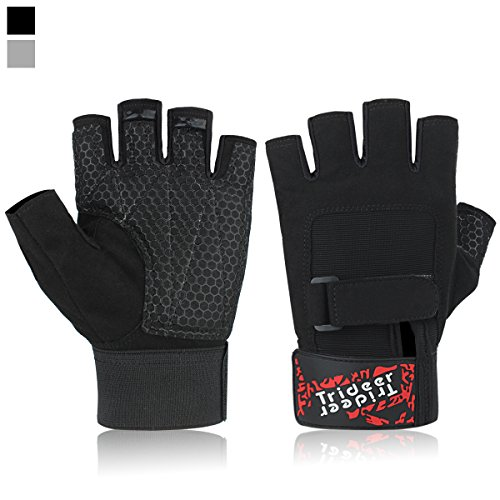 Trideer-Ultra-Lightweight-Unisex-Fitness-Gloves-Training-Gloves-with-Adjustable-Wrist-Support-Gel-Silicone-Palm-and-Safe-for-Strength-Training-Weightlifting-Bodybuilding-black