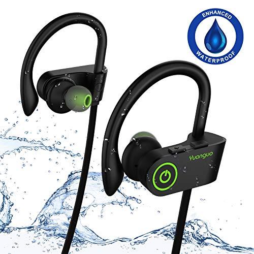 Auriculares Bluetooth, Arbily IPX7 Auriculares Inalambricos con Micrófono HiFi Estéreo Cancelación De Ruido CVC 6.0, 10 Horas Auriculares Deportivos Bluetooth 4.1 para iOS, Android, Smartphones