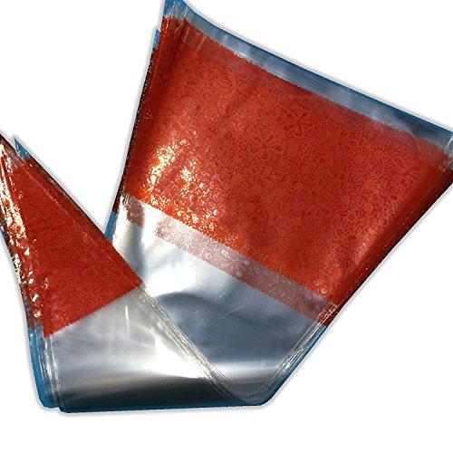 weddecor 37cm x 19cm Konus Sweet Candy Taschen–Blau Cellophan Wrapper für Kinder Kinder Geburtstag, Hochzeit, Baby oder Bridal Dusche, Dank geben, Empfang und Weihnachten (50Stück), plastik, rot, 100 (Candy-wrapper-schmuck)