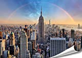 New York City Empire State Building XXL Poster 140cm x 100cm HD Wandbild Hochauflösende Wanddekoration Bild für Wandgestaltung | Fotoposter Manhattan downtown USA |