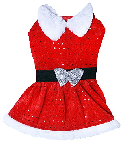 Dog Life Mrs Claus Santa Suit For Dogs (Extra Small) (Mrs. Claus Kostüme Santa Und)