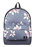 Roxy Sugar Baby Mochila Pequeña, Mujer, Rosa/Gris (Charcoal Heather Flower Field), 16 l