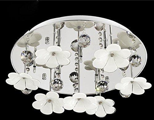 BBSLT Il Natale moderno e minimalista, camera da letto giardino, lampade da soffitto, fiore, petalo, Cristallo, romantico, caldo (45*20cm)