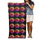 Coloré Volleyball Adultes Coton Serviette de Plage 31x 129,5cm