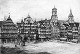 Kunstverlag Christoph Falk Einfarbige original Radierung Stuttgart, Alter Marktplatz von Scholz als loses Blatt, Graphik