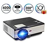 Best Hard Drive Mp3 Players - CAIWEI Led Video Projector, HD Home Cinema Theater Review