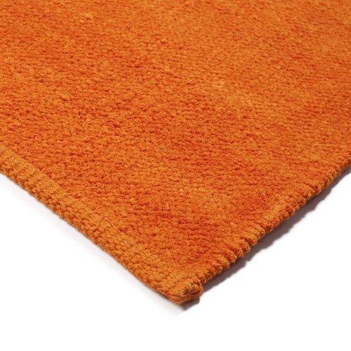 Monbeautapis 158548alfombrilla de felpa de algodón (85x 55cm), color naranja