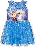Disney Frozen Mädchen Kleid, Blau (Blue 17-4037TC), 5 Jahre