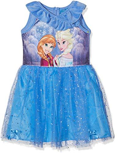Disney Frozen Mädchen Frozen Kleid, Blau (Blue 17-4037TC), 6 Jahre