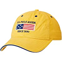 US Polo Association Men's Baseball Cap (USAC0363_Mustard_One Size)