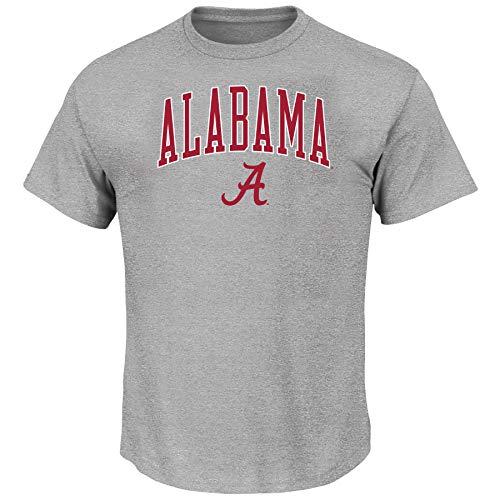 Profile Varsity University of Alabama Men's Big and Tall Short Sleeve Cotton Tee Shirt, Heather Grey XLT -
