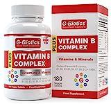 G-Biotics Vitamin B Komplex 180 Tabletten Mit PABA ~ EXTRA HOCHWERTIGES Nahrungsergänzungsmittel