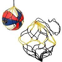 5x milopon Baloncesto Fútbol y bolsillo de malla de grosor Amarillo y Negro Malla Funda de nailon