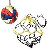 Hacoly 5er Basketball Netzschnur Fußball Bag Einkaufstasche Netztasche Sandspielzeug Portable/waschbar/Volleyball Net String Bag Organizer für Aufbewahrung