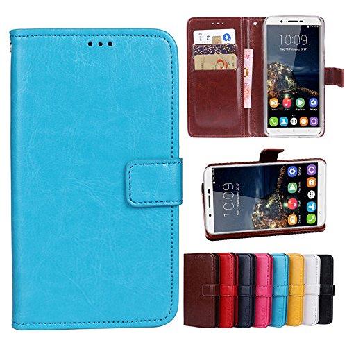 COVO® OUKITEL U16 Max Brieftasche Hülle PU+TPU Kunstleder Handyfall für OUKITEL U16 Max mit Stand Funktion EIN Stent-Funktion (Blau)