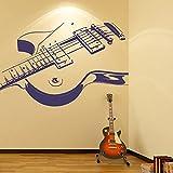 Guitare électrique Stickers Muraux Musique Sticker Art Disponible en 5 tailles et 25 couleurs