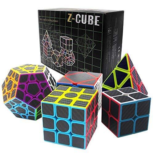 Fibra Carbón Cubo mágico cajas regalo Set 2x2x2,3x3x3,Meganminx