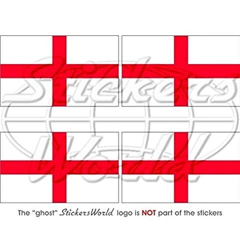 England englisch Flagge St George 's Cross Großbritannien UK 5,1cm (50mm) Vinyl bumper-helmet Sticker, Aufkleber (George Englische Flagge)