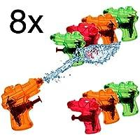 Großhandel & Sonderposten 4 x Wasser Pistole Wasserpistole bunt 11cm Kinder Geburtstag Giveaway Spielzeug