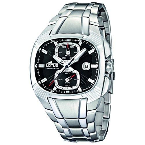 4545106f94dd Lotus 15752 2 - Reloj analógico de cuarzo para hombre con correa de acero  inoxidable