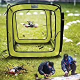 QHJ 31x31x31 Zoll Drone Hindernislauf durch die Tür Einfach zu Bauen Racing Drone Kit (Leuchtendes Grün)